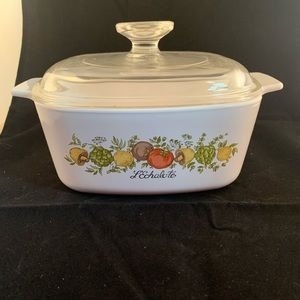 Vtg CorningWare spice of life casserole with lid